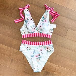 OBO NWT MODCLOTH Floral High Waisted Swimsuit